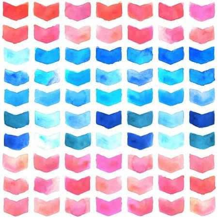 Watercolor geometric seamless pattern 矢量图像