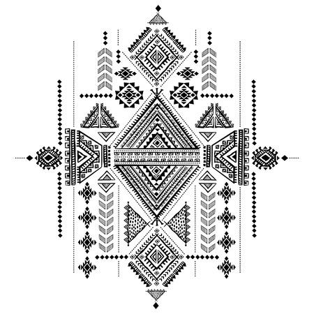 Tribal vintage ethnic background Illustration