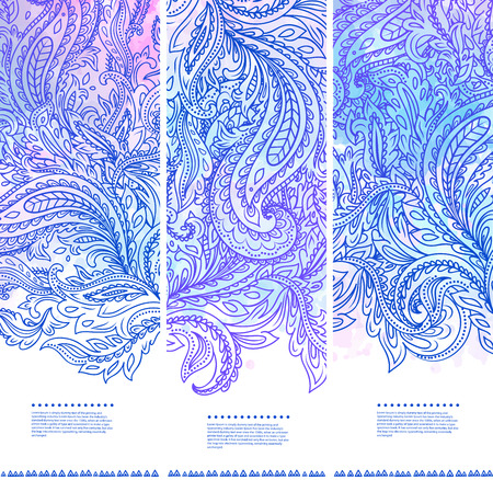 Beautiful floral set of banners Vector