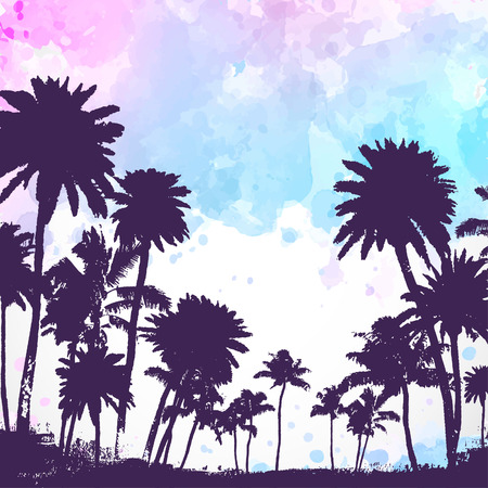 Vector Palm trees illustration for your business Ilustração