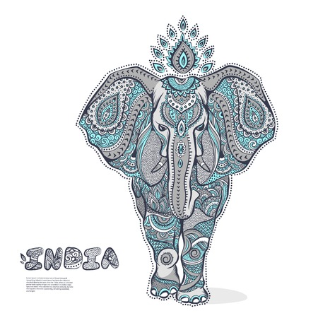 Vector Vintage elephant illustration for your business Vector