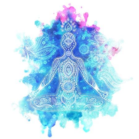 Zestaw ozdobnych elementów i symboli Indii