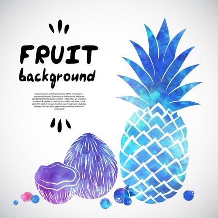 Vector Aquarel fruit illustratie voor uw bedrijf Stock Illustratie