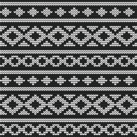 Seamless vector knitted pattern for your business