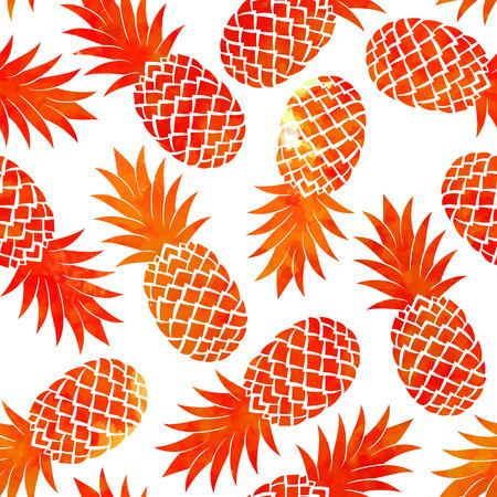 Vintage vector ananas naadloze voor uw bedrijf
