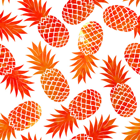 Vintage vector  pineapple seamless for your business Vector