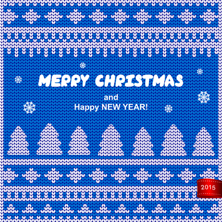 Vector Christmas knitted illustration can be used as a greeting card Illustration