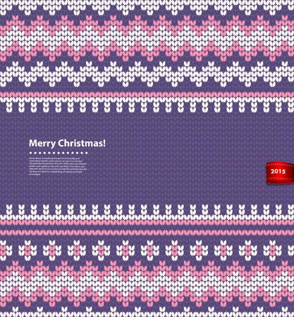 編み図ベクトル クリスマス、グリーティング カードとして使用できます。