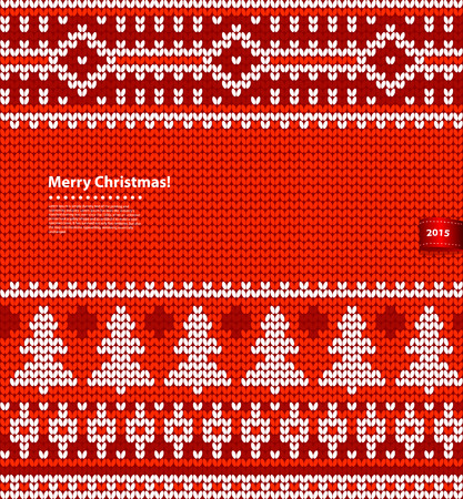 Vector Christmas knitted illustration can be used as a greeting card 일러스트