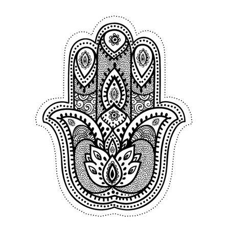 mandala flower: Set of ornamental Indian elements and symbols