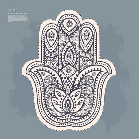 chakra: Set of ornamental Indian elements and symbols