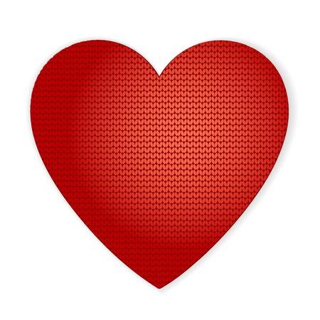 ベクトル バレンタイン ハートのニットは、グリーティング カードとしても使えます。