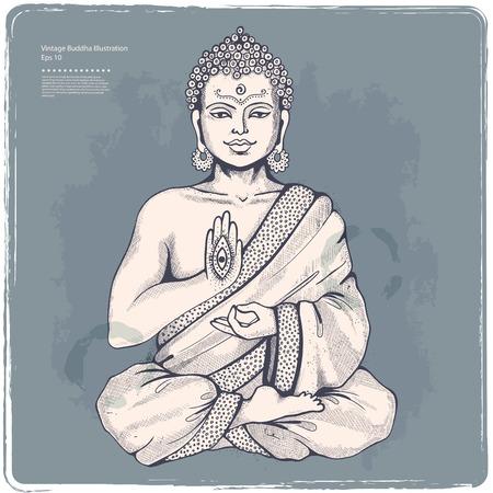 bouddha: Ensemble d'�l�ments et de symboles indiens ornementales