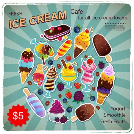 sugar cube: Vector Vintage Dessert illustration for your business