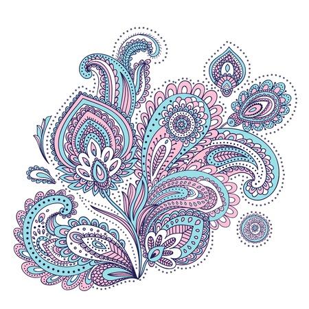 Schöne indische Paisley-Verzierung für Ihr Unternehmen Illustration