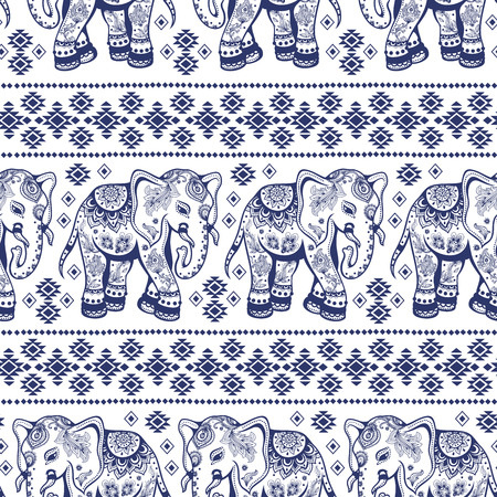 seamless: Ethnic vintage elephant seamless for you business