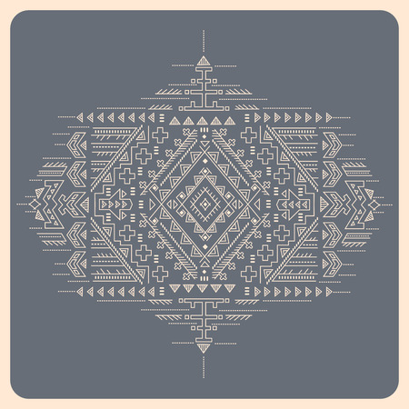 Beautiful vector tribal mexican vintage ethnic ornament