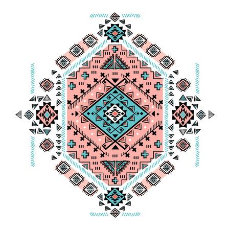 tribales: Aislado vector hermosa mexicana tribal ornamento étnico Vectores