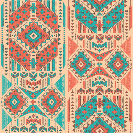 african fabric: Vector Tribal Mexican vintage ethnic seamless pattern Illustration