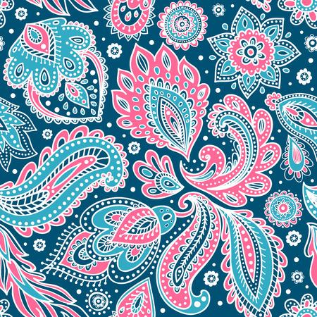 아름 다운 벡터 빈티지 꽃 잎 원활한 패턴