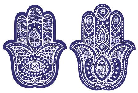 Vector indischen Hand gezeichnet hamsa mit ethnischen Verzierungen Standard-Bild - 39307990