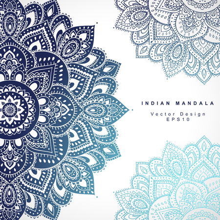 Beautiful Vector Indian floral ornament. Wedding Invitation. Greeting card