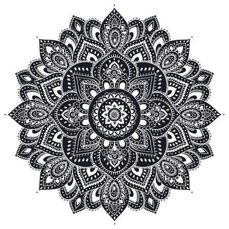 아름다운 인도의 꽃 장식은 인사말 카드로 사용할 수 있습니다 일러스트