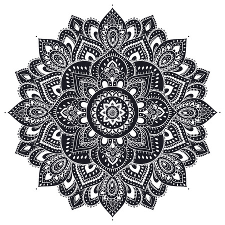 Schöne Indische Blumenverzierung kann als Grußkarte verwendet werden