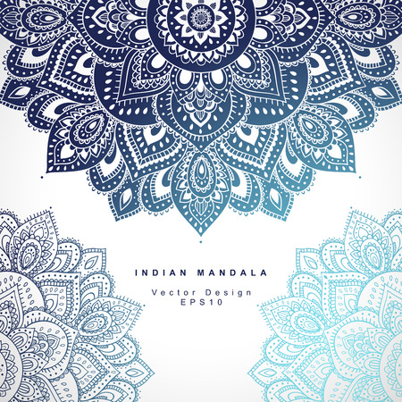 Beautiful Indian floral ornament can be used as a greeting card Ilustrace
