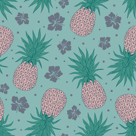 stylize: Vector Vintage pineapple seamless for your business