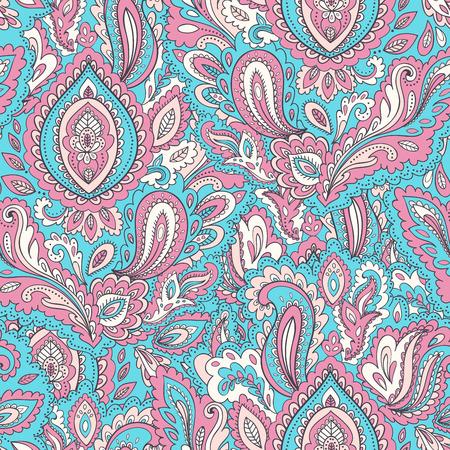 Beautiful vector vintage floral leaf seamless pattern Çizim