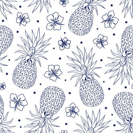 Vector Vintage ananas naadloos voor uw bedrijf