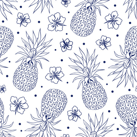 Vector Vintage pineapple seamless for your business