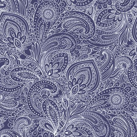 美しいベクター ヴィンテージ花葉のシームレス パターン