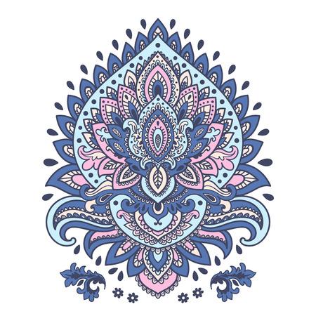 disegni cachemire: Bella ornamento floreale indiano pu� essere usato come un biglietto di auguri