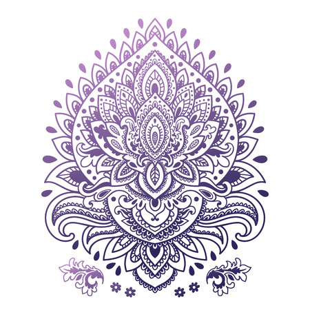 mandala: Beautiful Indian floral ornament can be used as a greeting card Illustration