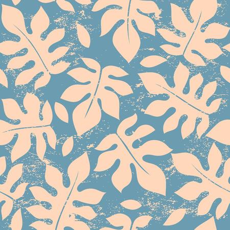 Beautiful vector vintage floral leaf seamless pattern Vettoriali