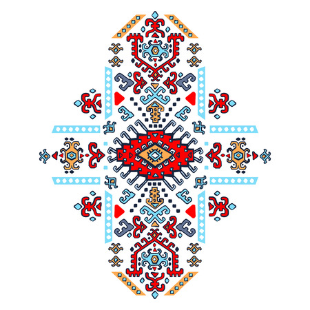 floral decoration: Mexican and African Vector Tribal ethnic ornament
