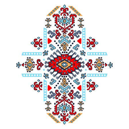 tribales: Vector mexicano y africana tribal ornamento étnico Vectores
