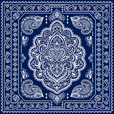 medallion: Beautiful Indian floral ornament can be used as a greeting card Illustration