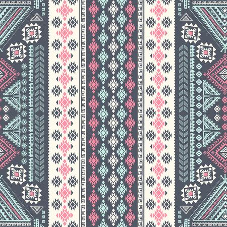 벡터 부족 멕시코 빈티지 민족 원활한 패턴