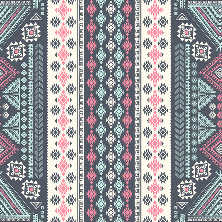 Vector Tribal Mexican vintage ethnic seamless pattern Vettoriali