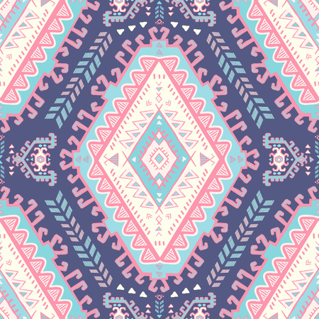 tribal: Vector Tribal Mexican vintage ethnic seamless pattern Illustration