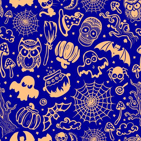 Vector vintage Halloween naadloze voor uw bedrijf