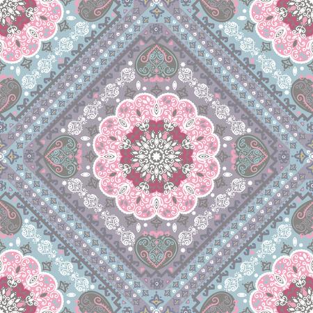 turkish: Vintage vector Turkish rug style seamless pattern Illustration