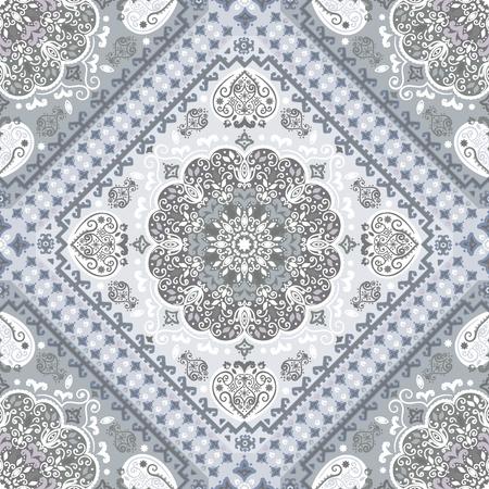 Vintage vector Turkish rug style seamless pattern Ilustração