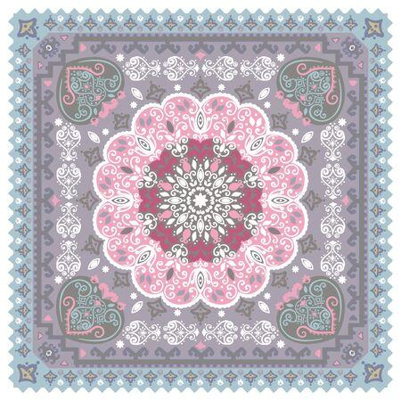 turkish: Vintage vector Turkish rug style seamless pattern Stock Photo