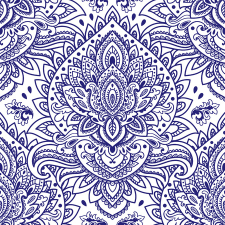 floral vintage: Beautiful vintage floral leaf seamless pattern