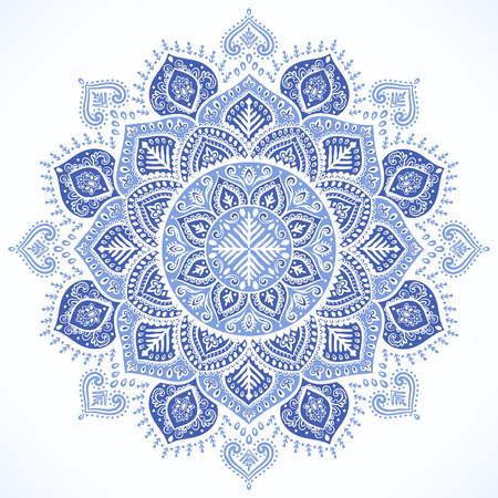 Beautiful vector Christmas snowflake mandala indian ornament Illustration