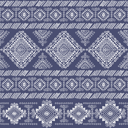 mexican: Vector Tribal Mexican vintage ethnic seamless pattern Illustration